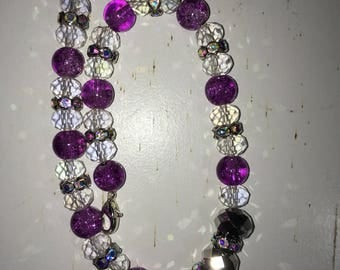 Clear and purple browband