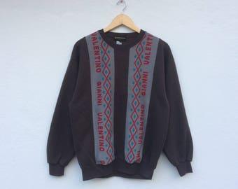 Gianni Valentino Spell out Dark Brown Vintage Sweatshirt
