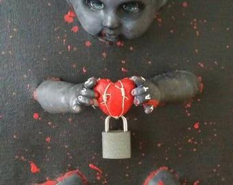 Macabre art doll creepy goth