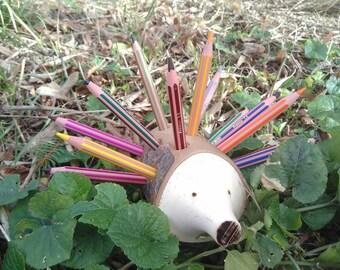 Hedgehog holder pencils, brushes...