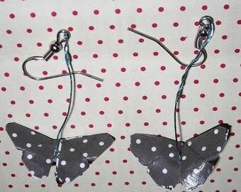 Pair of origami butterflies earrings
