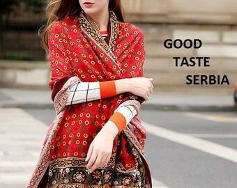 Burgundy Scarf Maroon Shawl Pashmina Scarf Cashmere Shawl Red Scarves Wrap Hijab Esharp Gypsy Scarf Vintage Shawl Boho Bohemian Scarves