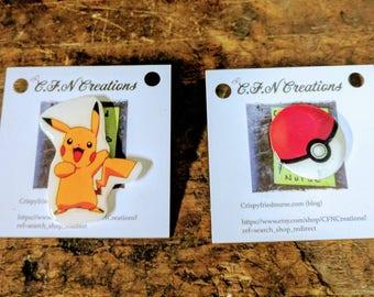 Pokemon/pokeball/pin/backpack pin