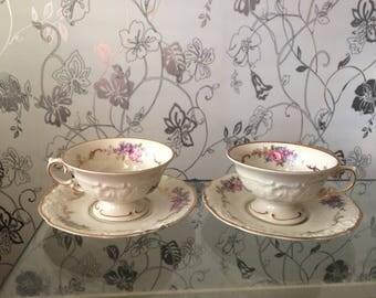 Vintage Tea Cup  1945 - 1952 KPM Poland Polskt porslin Demitasse Cup and Saucer Vintage Porcelain