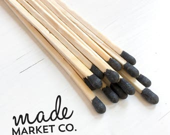 Black Colored Tip Matches. Match Sticks Refills Bulk Unbottled 50 Count. Farmhouse Home Decor. Gifts for Her. Best Seller Most Popular Item