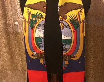 Ecuadorian Flag Print Sash.