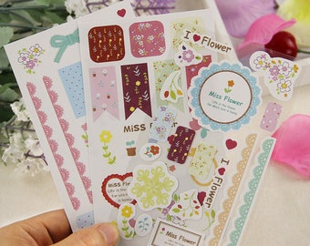 3 sheets stickers. Stickers planner