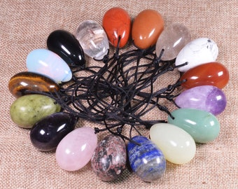 Yoni Eggs for Women,Kegel Exercises,Postpartum Restoration,Pelvic Health,New Moms,Yoga,Sexual Awakening,Meditation,16 minerals,All drilled.