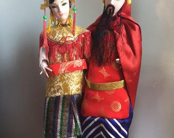 Handmade Traditional Chinese Dolls---Emperor and Empress