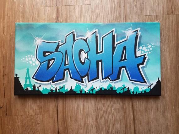 toile tableau graffiti street art d co spray d coration murale. Black Bedroom Furniture Sets. Home Design Ideas