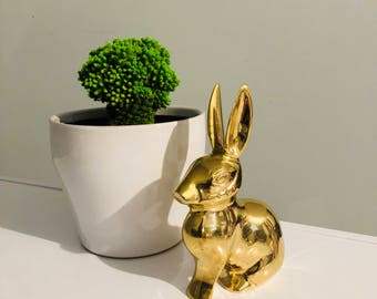 Vintage Brass Rabbit Collectible Figurine