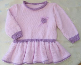 Pink and lilac girl tunic dress size 4t