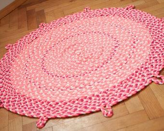 Rosa teppich rund  Skandinavische teppich | Etsy