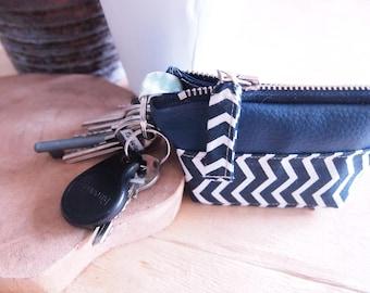 Case for keys or unisex wallet, minimalist style
