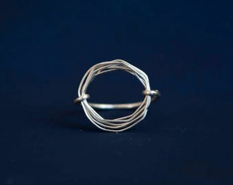 Handmade Circle Wire Ring