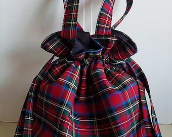 Large drawstring tote bag/project bag