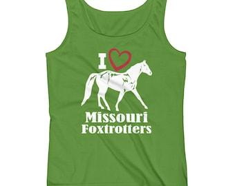 I Love Missouri Foxtrotters Ladies Tank Top