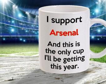arsenal f.c mug - funny football mug  - 11oz size