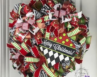 Merry Christmas Ornament Wreath