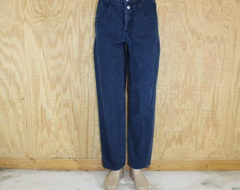 Vintage 1980's GUESS Men's Cotton Denim Blue Jeans Dark Wash 30 X 30
