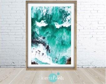 Emerald Beach, Digital Print, Ocean Photography, Ocean Print, Prints, Coastal Wall Decor, Water, Beach Art, Minimalism, Trending