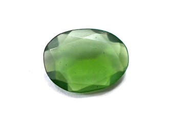 Vessonite Natural Green Color Vessonite Both Side Faceted Rose Cut Polki 1.30 cts 7.5x10 mm Beautiful Top Color Loose Gemstone - 4101