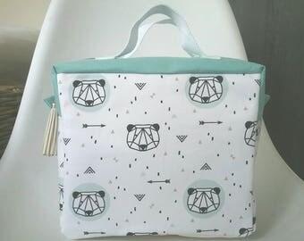 Personalized toiletry bag Scandinavian geometric