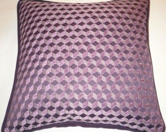Pattern pillow cover geometric purple tones