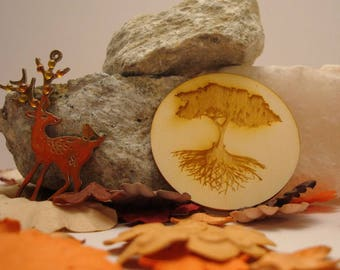 Tree of life wooden Littles 1978 embellishment