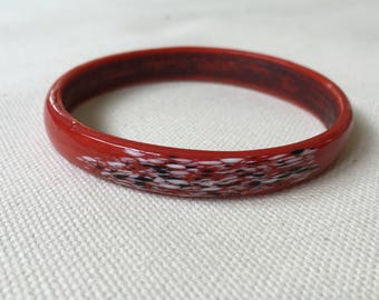 1970s Painted Glass Bangle