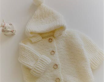 coat with hood with tassel 6/9 months baby