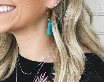Fringe tassle earrings
