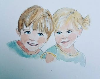 Water Color Portraits of Children