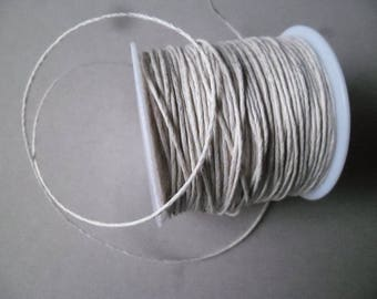 x 5 meters of fisl 1 mm beige waxed cotton macrame cord