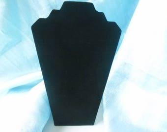 x 1 display/large bust 32 x 22 cm black velvet jewelry