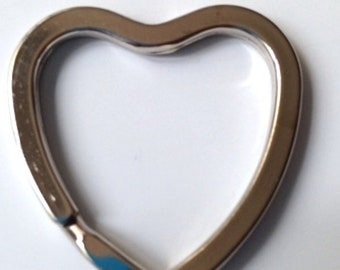 Metal heart shaped key ring