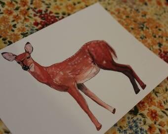 A6 Postcard 'The Doe'