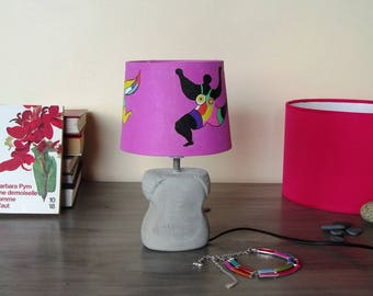 Girl pink foot concrete, creation, William Faulkner, bedside, table lamp