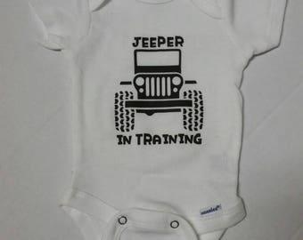 Jeep baby onesie. New born size