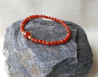 4mm Carnelian bracelet - Root chakra/Muladhara