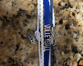 Volleyball mom bracelet