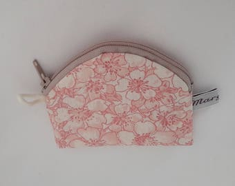 Tiny coin purse double zipper, cotton white imitation leather, for small coins, vape chips