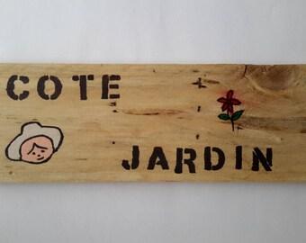 """Plate message: """"Garden"""""""