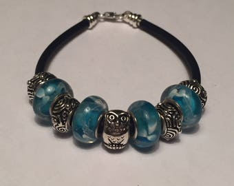 Aqua Owl Wisdom Bracelet