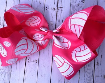 Volleyball Large JoJo Style Hair Bow