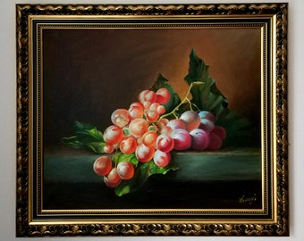 Free Shipping! Grapes Oil Painting,Art, 50/60CM, 19.7/23.6Inches. Not include outer frame.