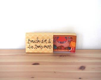 """Diorama Conte """"Boucles d'or et les trois ours - 4. Le petit lit"""""""
