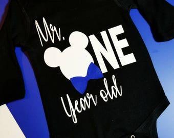 babies First onesie, Mickey mouse onesie, Birthday onesie, cute boys onesie, Disney onesie, boys First birthday, firts birthday