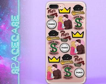 iPhone X case iPhone 8 Plus iPhone 7 Riverdale Samsung S8 iPhone 6 Plus Galaxy S7 Edge JugHead iPhone 7 Plus Crown Gift Under 20 Rubber Case