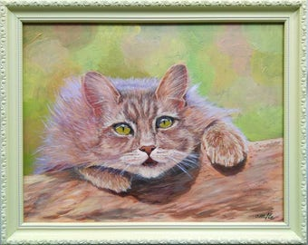 acrylic art and collecting cats dogs paintings